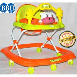 BBH 349 Baby Walker With Stopper / English Song (Orange)