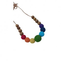 Yomommies Trolls Wood Nursing Necklace
